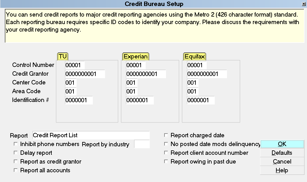 How To Setup Credit Bureau Reporting - Collect! Help